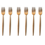 TUSK CAKE FORKS | ROSE GOLD | 6 PIECE