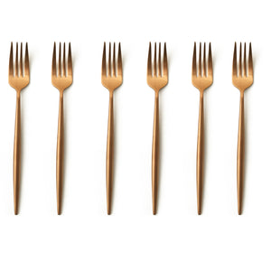 TUSK CAKE FORKS | ROSE GOLD | 6 PIECE (10776641416)