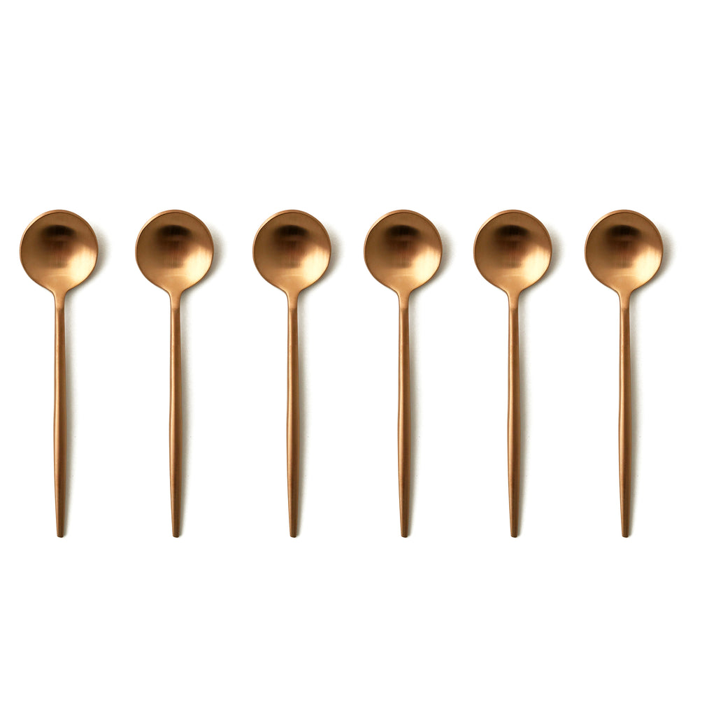 TUSK TEASPOONS | ROSE GOLD | 6 PIECE (10776678024)