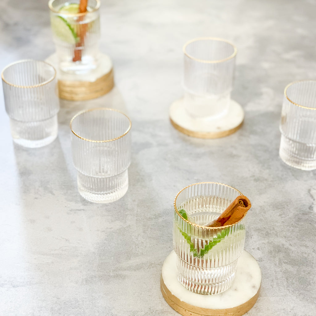 RIPPLE GLASSWARE |  SET of 6