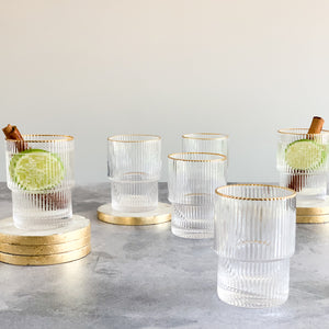 Re-Stock FEB 2021 | RIPPLE GLASSWARE |  SET of 6