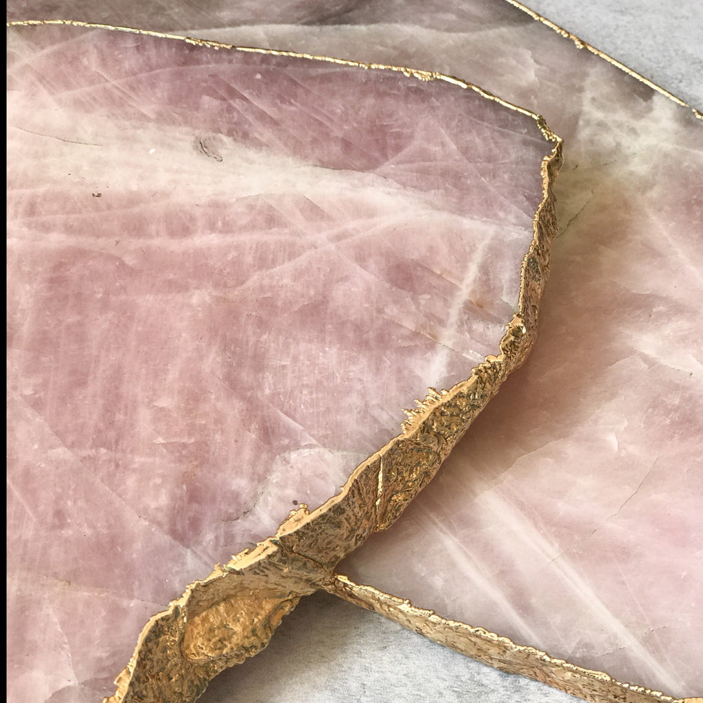 SERVING PLATTER | ROSE QUARTZ | MEDIUM