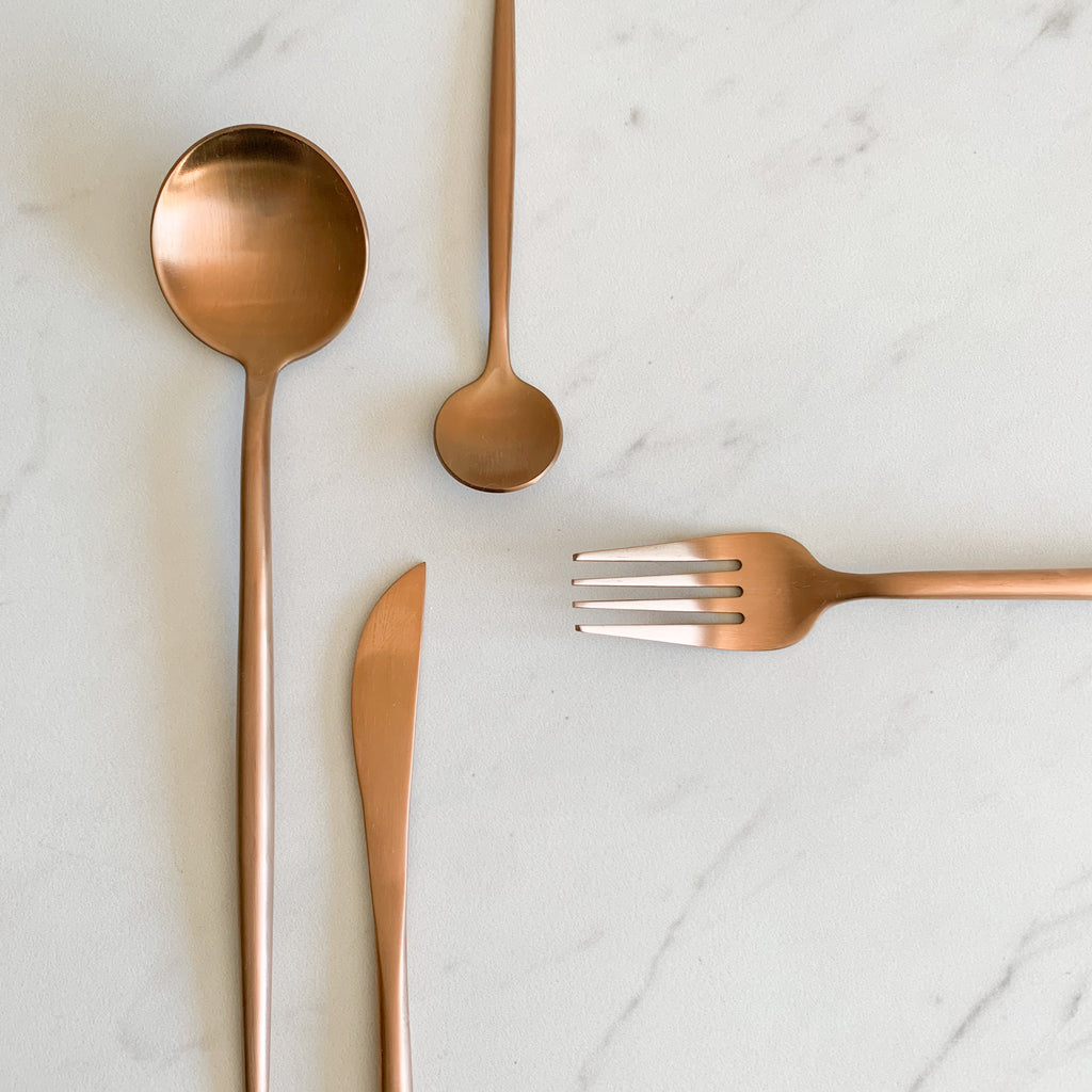 TUSK CUTLERY SET | ROSE GOLD | 16 PIECE