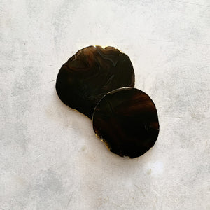 COASTERS | AGATE AMBER | SET of 2