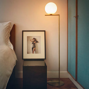 FLOOR LAMP | GOLD METAL