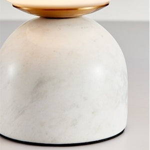 TABLE LAMP | MARBLE BASE | WHITE