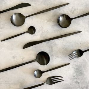 TUSK CUTLERY SET | BLACK | 16 PIECE