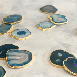 COASTERS | AGATE BLUE | SET of 2