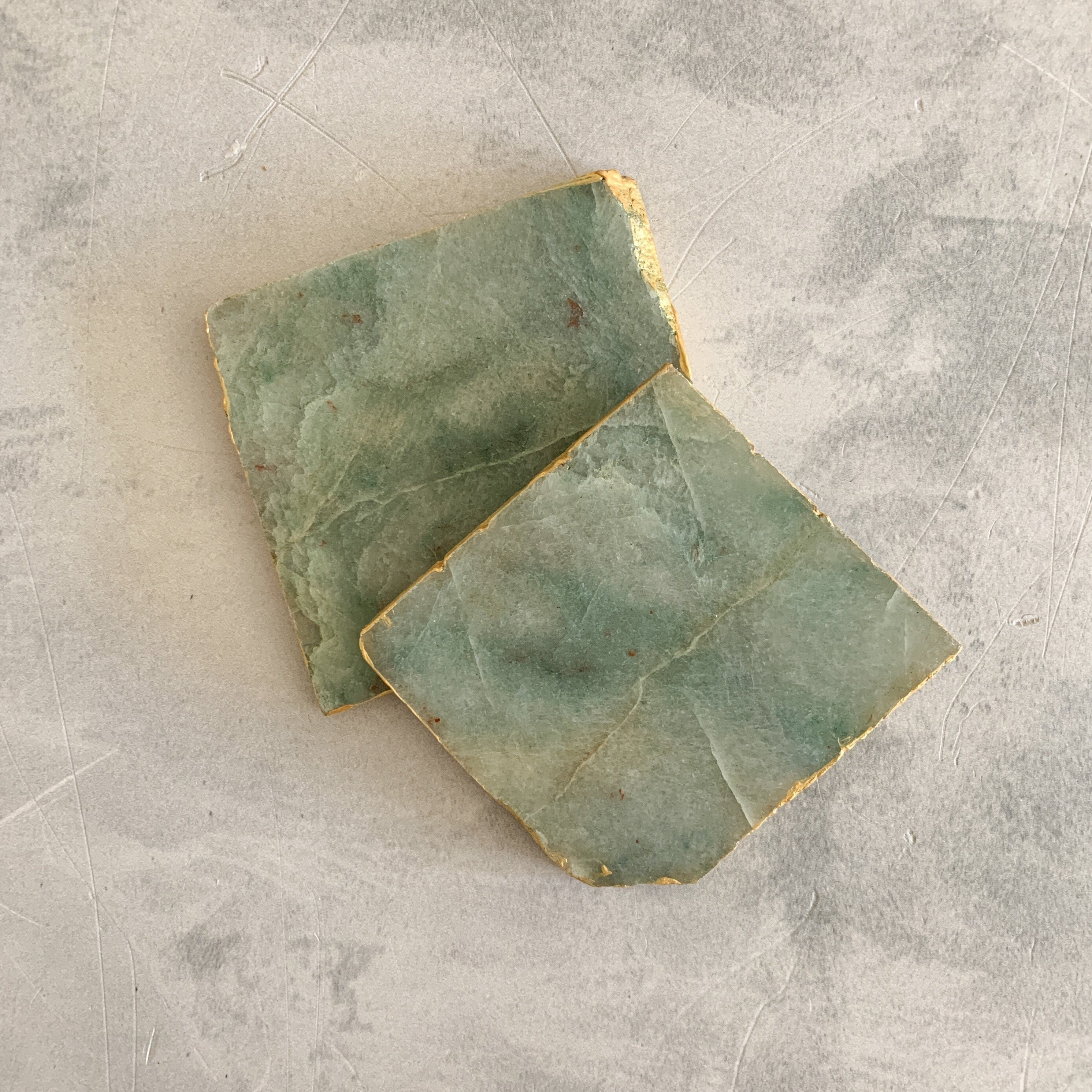COASTERS | AVENTURINE GREEN | SET of 2