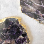 COASTERS | AMETHYST | SET of 2