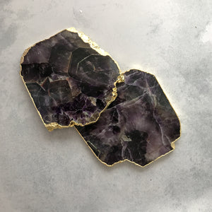 COASTERS | AMETHYST | SET of 2 (624965877795)