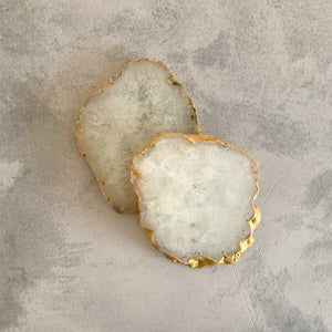 COASTERS | AGATE WHITE | SET of 2