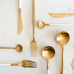 TUSK CUTLERY SET | GOLD | 16 PIECE