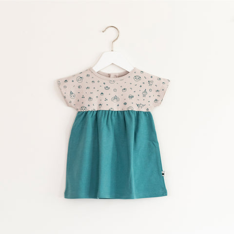 """Marshmallow"" Dress - Teal"
