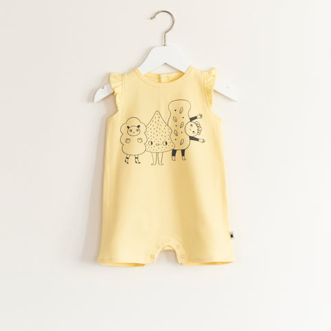 """Flutter"" Romper - Yellow"