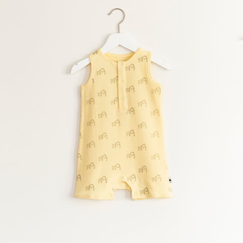 """Joke"" Romper - Yellow"