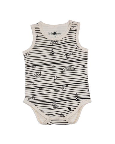 Sleeveless Onesie Ecru
