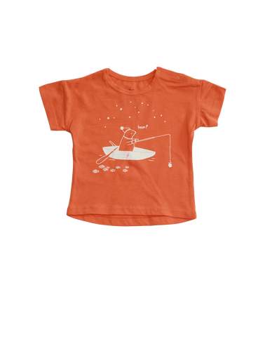 """Canoe"" Tshirt Short Sleeve / Pumpkin"