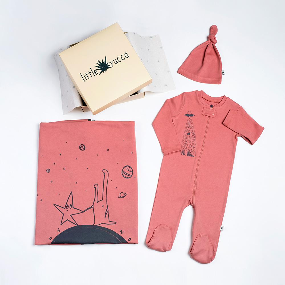 """Welcome"" Baby Set - Pink Terracotta"