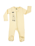 """Zip"" Jumpsuit - Soft Yellow"