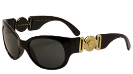 Versace VE4265 Sunglasses GB1 87 Black (Gray) 57mm