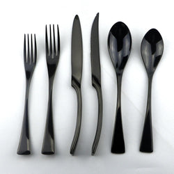 Black Stainless Steel Dinner Set Knife Scoops-a2zshopping.com.au