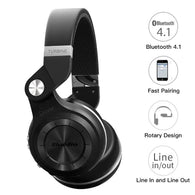 Original Bluedio T2S Bluetooth Headphones with Mic - A2Z Shopping