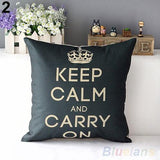 Retro Home Decorative Cotton Linen Blended Cushion Cover Crown-a2zshopping.com.au
