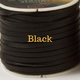 Black Leather for Horse Neck Ropes and Training Lines