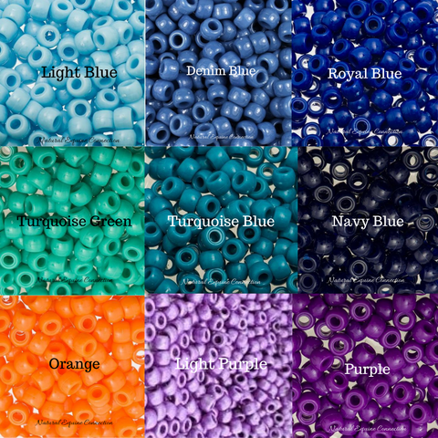 Custom color choices for Horse Rhythm Beads made by Natural Equine Connection