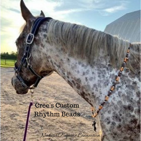 Crees Custom Horse Rhythm Beads look great with her coat colors.