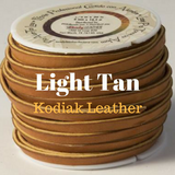 Kodiak Leather Light Tan for Braided Buttons for Custom Tack
