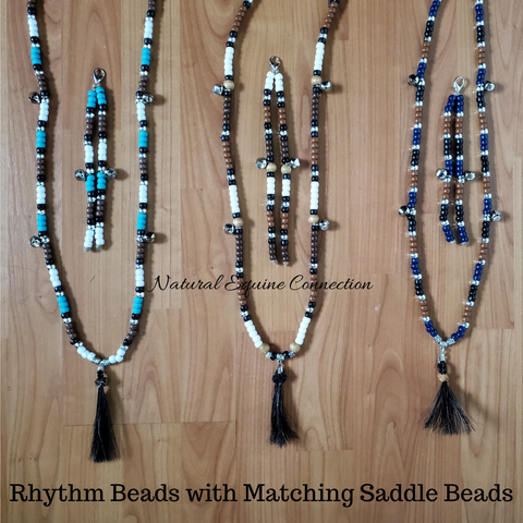 Love the colors that my customer chose for her Horse Rhythm Beads with matching Saddle Beads. Made in Canada by Natural Equine Connection.