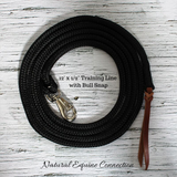 Natural Foundation Horse trainers use 12 foot lines daily in their training programs. Our handmade ropes are the same quality as they use, but at half the cost. All of our training lines are made by Natural Equine Connection in Canada.