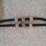 Rope Horse Training Halter with Fiador Knot