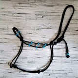 Our handmade slide ring rope horse training halters come with different options and are by far the best horse training halter on the market. You can customize your halter with leather or paracord braided know accents.