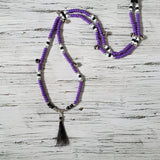 Horse Rhythm Balance Beads - Purple / Black / White / Silver