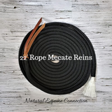 Mecate reins are a great choice of reins of top horsemen because of their versatility.