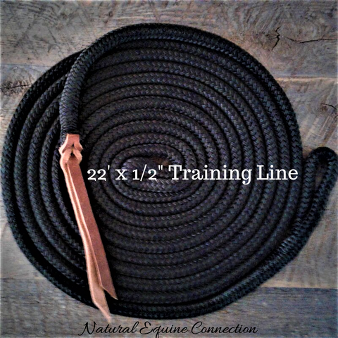 "Our 22' x ½"" Horse Training Lines are perfect for groundwork, circles, and anytime that a horse needs more drift."