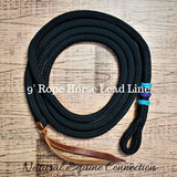 "Our 9' x 1/2"" Rope Horse Training Lead Lines are ideal for leading and tying. Designed to move smoothly through your hands to allow drift to communicate perfect feel and energy to the horse."
