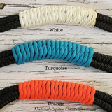Adjustable Horse Neck Rope with Leather Poppers