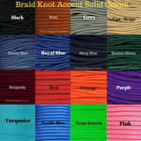 Our Horse Neck Ropes come with the option to add braided knot accents in a variety of different colors.