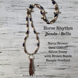 Horse Rhythm Balance Beads in Navy / Brown / Gold Glitter / Silver / Ivory
