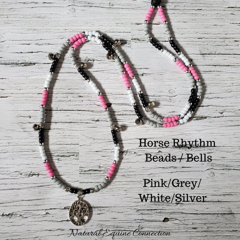 Horse Rhythm Balance Beads - Pink / Grey / Black / White / Silver