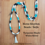 Horse Rhythm Balance Beads in Turquoise / Black / White / Silver
