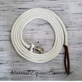 Our horse training lines have the perfect weight to carry your message and feel precisely and accurately to the horse and the length is ideal for many applications.