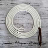 Natural Equine Connection Rope Horse Training Lead Lines have many purposes. Ideal for every day training, effective groundwork, leading, tying, & ponying.