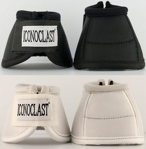Iconoclast Orthopedic Horse Support Boots are available in Ontario, Canada. They feature a patented Double Sling Straps for unparalleled lateral support. With its evenly distributed support to the suspensory branches, Iconoclast is the only boot that truly lifts and cradles the equine leg.