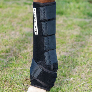 The Iconoclast Extra Tall Horse Support Boots are highly recommended by veterinarians and to horse trainers. They are available in Canada at Natural Equine Connection.