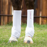 The Iconoclast Extra Tall Orthopedic Support boots for horses are available in Canada at Natural Equine Connection.